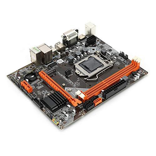 Placa Base Teclado Redondo SATA3 DD B75 Placa Base de Escritorio Placa Base M ‑ ATX Placa Base USB3.0 de 1155 Pines con Tarjeta de Sonido de 6 Canales Compatible con Disco Duro B75 M.2