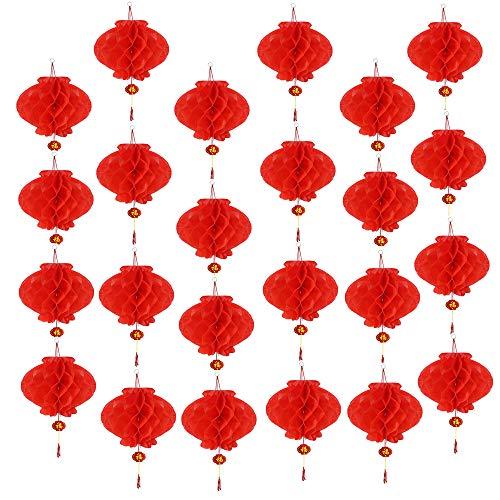 Aniparty 10 faroles chinos color rojo decoración