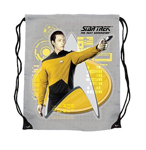 Star Trek - gymtas - stoffen tas - Commander Data - 44 x 35 cm