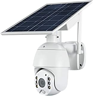 100% Wire-Free Wireless Rechargeable Battery Solar Powered Outdoor 1080P Pan Tilt WiFi Security Camera PIR Motion Recordin...