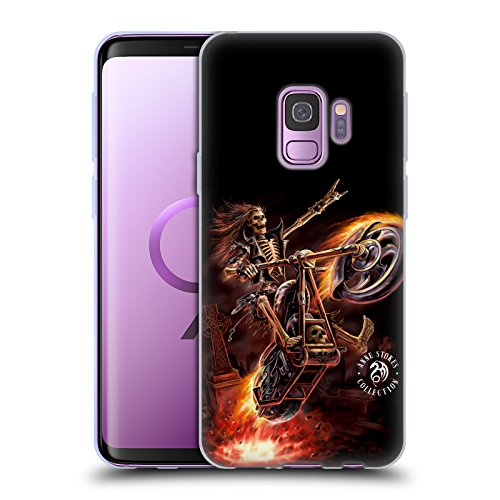 Head Case Designs Oficial Anne Stokes Hola Jinete Cartel Fuego Tribal Carcasa de Gel de Silicona Compatible con Samsung Galaxy S9