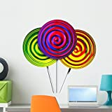 Wallmonkeys Candy Lollipops Wall Decal Peel and Stick Graphic (24 in H x 24 in W) WM218888