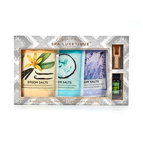 Spa Luxetique Epsom Salt Soak, Bath Salts with Tea Tree Oil for Foot Soaking, Rich in Essential Oil...