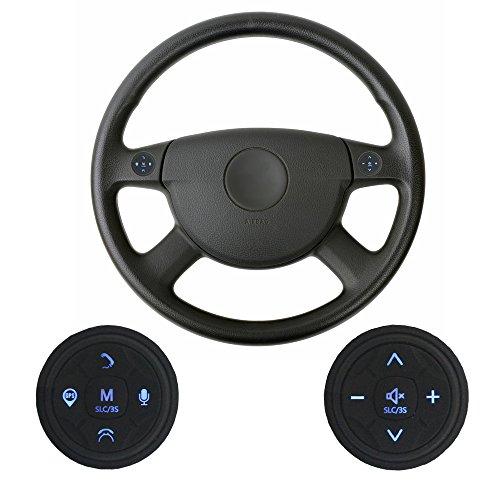 XISEDO Steering Wheel Control Buttons 10 Chiavi Tasti di comando del Volante Pulsanti Esterni Wireless per Autoradio, Navigatore GPS, Lettore DVD