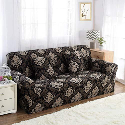 Funda de sofá elástica y Antideslizante para el hogar, Muebles de Patio, Baroque, Three People (190-230cm)