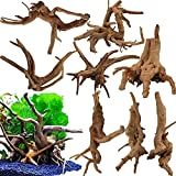 Oruuum 8 Pack 4'- 6' Natural Aquarium Driftwood, Aquarium Decorations Fish Tank Driftwood Natural Wood Decorations Fish Tank Spider Wood Decor