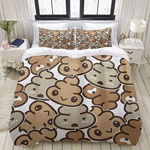 Yaoni Duvet Cover,Poo,Bedding Set Ultra Comfy Lightweight Microfiber Sets