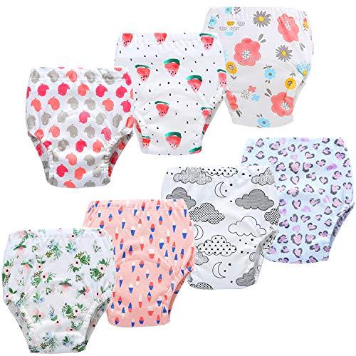 JackLoveBriefs Baby Kleinkind Töpfchen Unterwäsche Töpfchen Trainingshose (2-3 Jahre, 7 Stück, Farbe: G-1, Gr.90)