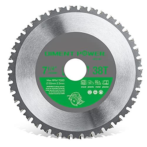 Diment Power Hoja de sierra circular, adecuada para sierra circular de 185 mm, utilizada para cortar acero, aluminio