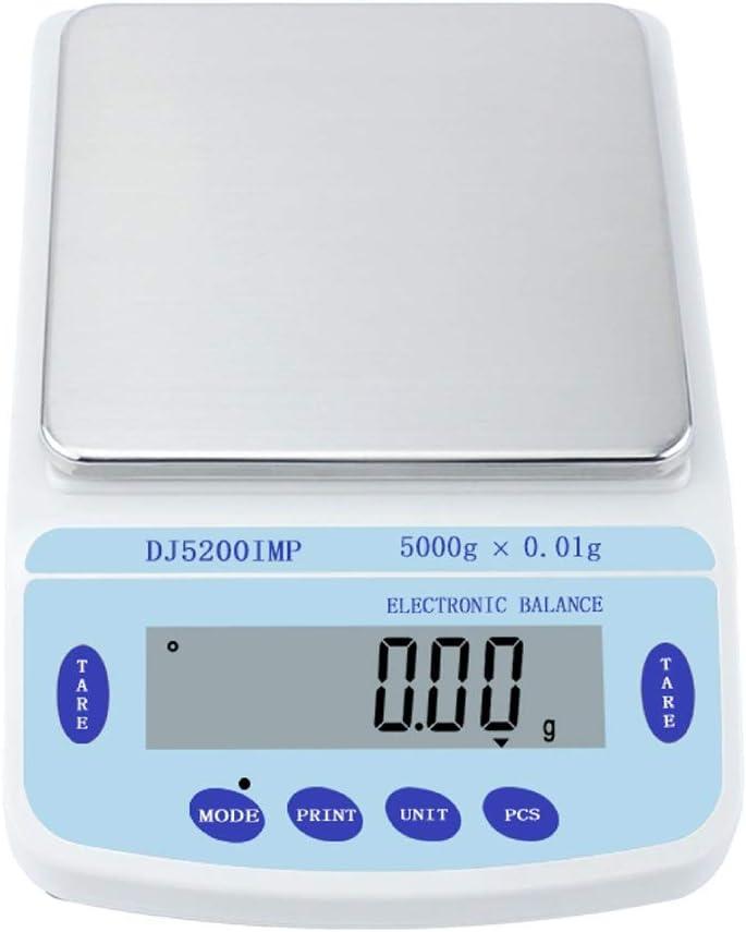 CHICTI Escala Alta Precisión 0,01g Balanza Electrónica Precisa Digital Escala Laboratorio 1000g 2000g 3000g Peso Escala Científica Interfaz RS232 Pequeño (Size : 3000g/0.01g)