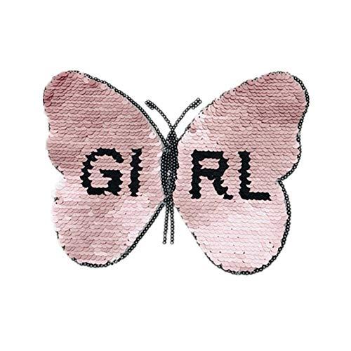 qingqingxiaowu Parches Ropa Grandes Parches para Ropa Recorte de Encaje de algodn para Coser Parches de Tela Cuello de Encaje Apliques para Ropa Butterfly