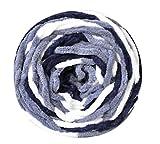 Conjunto de 3 Hilados de algodón de Punto Bufanda Tejida a Mano Hilos Suaves de Color Mixto, Gris
