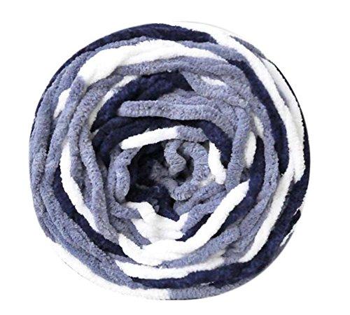 Ensemble de 3 fils de coton tricotés Écharpe tissée à la main, fils mous, doux, Gris