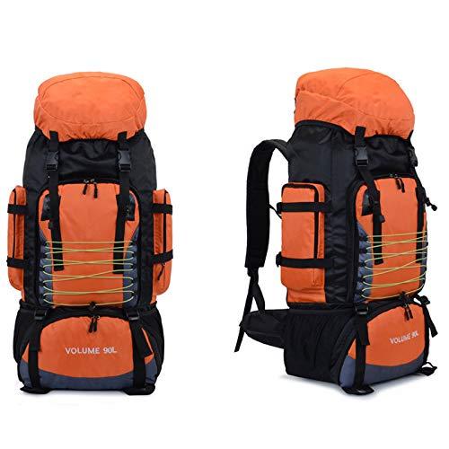 HOUJIA Zaino da Alpinismo,90L Zaino da Trekking Outdoor Sport Impermeabile e Alta capacità Zaino per Escursionismo Montagna Campeggio Alpinismo Viaggio,Zaino da Escursionismo
