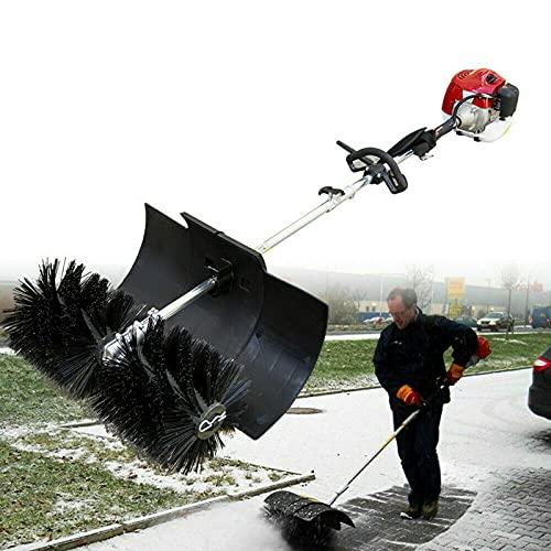 Kehrmaschine 52cc 2,3 PS 1700W Motorbesen Benzin Schneeschieber Schneefräse Kehrbesen Laubsammler 600mm Besenbreite