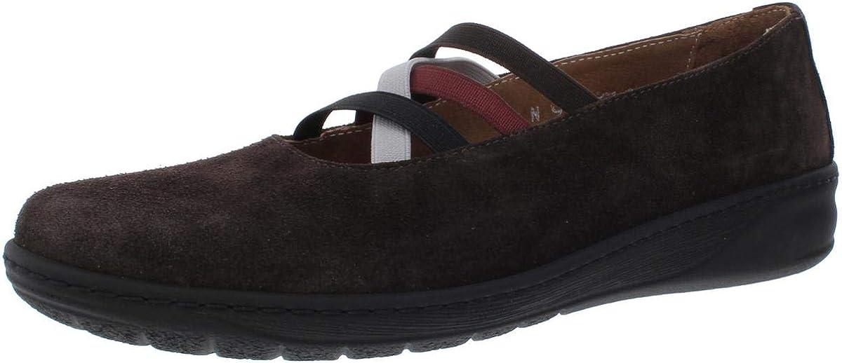 David Tate Womens Mika Suede Walking Athletic Shoes Brown 7 Narrow (AA,N)