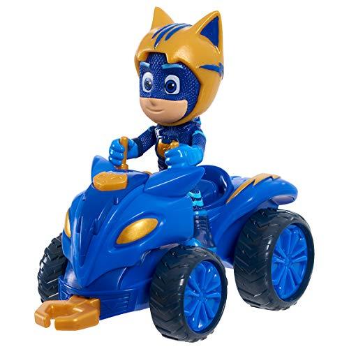 Simba 109402421 - PJ Masks Quad Catboy / mit Superhelden Action Figur / mit integrierter Seilwinde / blau mit goldenen Akzenten / Figur 8cm groß, für Kinder ab 3 Jahren