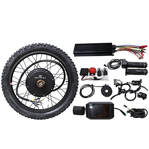 TOPQSC 26 'Kits de conversión de bricolaje bicicleta eléctrica súper alta potencia 48V 60V 72V 3000W con pantalla colorida sistema de controlador programable inteligente (72V)