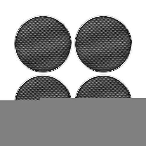 EBTOOLS 4-in-zwart auto audio luidspreker grill beschermrooster beschermfolie frame veranderende delen 4PCS default