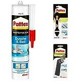 Pattex Dusche und Bad Silikon + Glätt-Cutter (PFWGC) + Fugenhai (PFWFH)