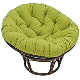 Blazing Needles Solid Twill Papasan Chair Cushion, 44' x 6' x 44', Mojito Lime