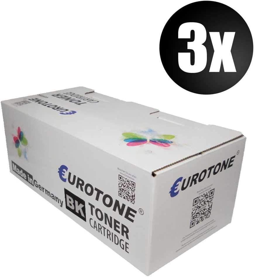 3X Eurotone Drumn for Xerox 7400DN 7400DX 7400DT 7400NM 7400DTM 7400DLM 7400DXF 7400DXM 7400N 7400 7400DNM Replaces 108R00647-108R00649 Color