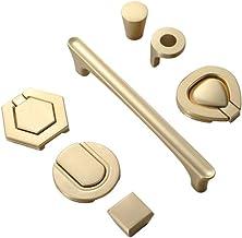 Deurkruk, 10 stuks zinklegering, onzichtbaar, verborgen handgreep, kastdeurlade, 1 gat, gouden kast, verborgen handvat, go...