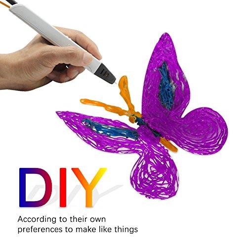 3D Stift Filament, Rusee 16 Farben 5M 3D Pen PLA Filament Ink Filament 1.75mm 3D Print Filament 3D Printing Pen Supplies 3D Stift Farben Set für 3D Stift, 3D Drucker, 3D Pen - 6