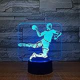 Yddlie Handball 3D LED lumière 7 Couleur Tactile Base 3D Table de lumière de Nuit bébé Sommeil veilleuse Fan de Sport Enfants Cadeau