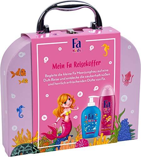 Fa Geschenkset Kids Mädchen 250ml Duschgel & Shampoo, 250ml Kinderseife Mit Coolem Reisekoffer, 500 Ml