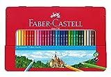Faber-Castell 115886 - Estuche de metal con 36 lápices de colores, multicolor