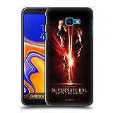 Offizielle Supernatural Sam, Dean und Castiel Schluessel Kunst Harte Rueckseiten Handyhülle Hülle Huelle kompatibel mit Samsung Galaxy J4 Core