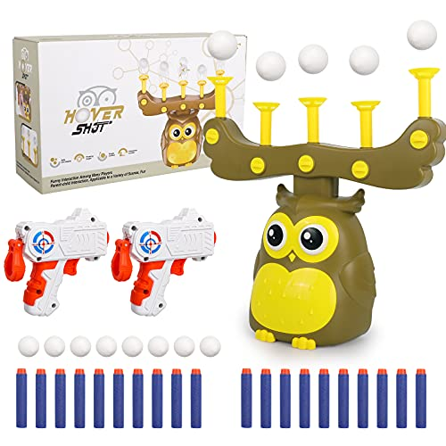 STOTOY Shooting Game Toy for Kids,Fun Toy Gift for Boys Age of 4 5 6 7 8 9 10 10+ Years Old Kids Girls for Birthday, with Shooting Target 2 Blaster Guns/8 Foam Balls/20 Darts,Compatible with Nerf Toys
