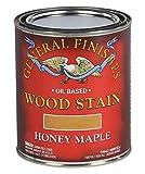 General Finishes Oil Based Penetrating Wood Stain, 1 Quart, Honey Maple