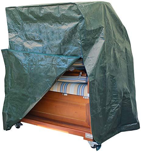 Royal Gardineer Strandkorbhülle: Gewebe-Abdeckplane für Strandkorb, 130 x 170 x 110 cm, 150 g/m² (Schutzhüllen für Strandkorb)