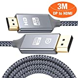 HDMI auf DisplayPort Kabel 4K 3m