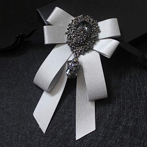 QIANGU Pajarita, Moda Cinta Pajarita Rhinestone Cristal Broche Pin Boda Pajaritas Ajustables