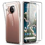 Reshias Hülle Kompatibel mit Nokia X20, Transparent Weich