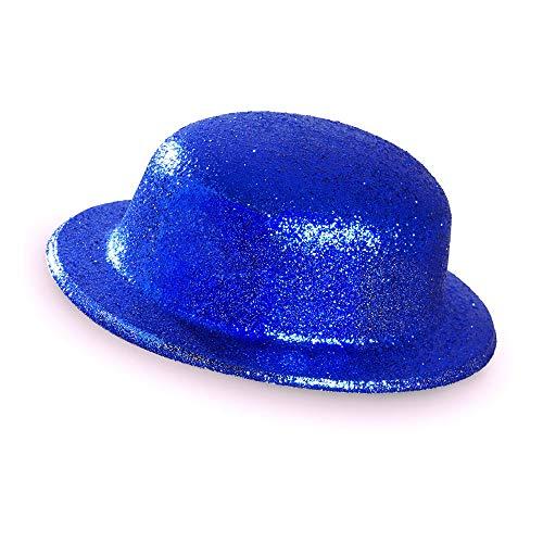 Widmann Melone glitter unisex-adult, blau, One Size, vd-wdm28046