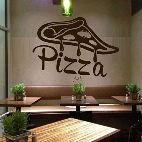 mlpnko Pizza Aufkleber Essen Aufkleber Poster Vinyl Kunst Wandaufkleber Dekorative Wand Pizza Aufkleber 60x87 cm