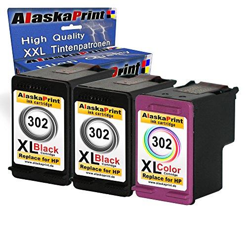3 Xxl Druckerpatronen Ersartz Für Hp 302 Xl Ps 302Xl Ps 302 Schwarz Bk Schwarz Farbe Farbig Für Hp Deskjet 1110 1115 2130 2132 Hp Deskjet 3630 3632 3633 2130