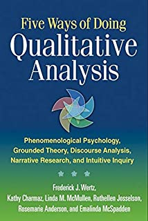 Five Ways of Doing Qualitative Analysis: Phenomenological Psychology, Grounded Theory, Discourse Analysis, Narrative Research, and Intuitive Inquiry (1609181425) | Amazon price tracker / tracking, Amazon price history charts, Amazon price watches, Amazon price drop alerts