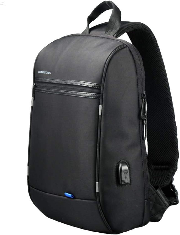 Capacity Chest Bag for Men&Female Canvas Sling Bag Casual Crossbody Bag for Short Trip