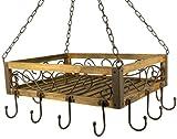 Suspension casseroles 83043 Suspension poêles 40 cm Etagère plafond Etagère...
