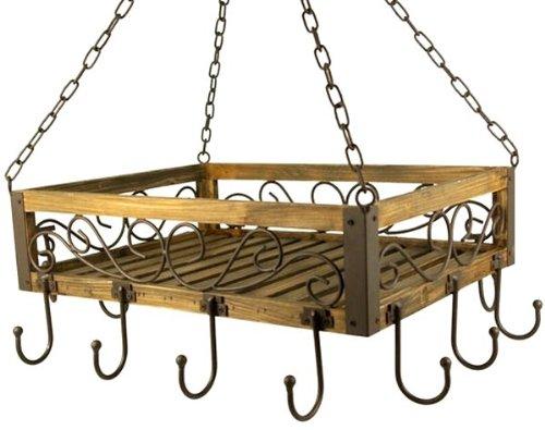 Suspension casseroles 83043 Suspension poêles 40 cm Etagère plafond Etagère suspendue Suspension Couronne saucisses