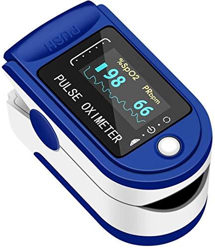 Óxímetro de pulso com ponta de dedo, LEIL automático digital oxímetro digital preciso indicador SpO2 monitor de saturação de oxigênio no sangue medidor de frequência cardíaca