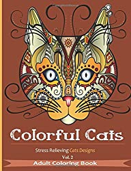 colorful cats coloring book for adults
