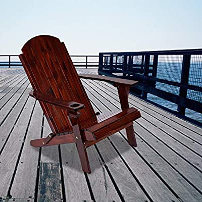 Amazon - Save 80%: Adirondack Chair – Renewable Resources fir (Brown Wood) Classic Outd…