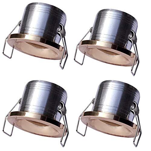 Yangtek 4 x Mini foco empotrable pequeño LED 3 W Focos de techo COB luces blanco cálido para armario