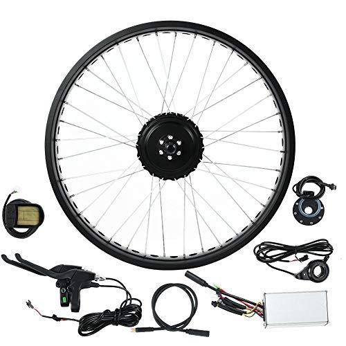 """Kit de Conversão Ebike, Kit de Bicicleta Elétrica 48V 500W, Kit de Conversão de Motor de Bicicleta Traseira de 20"""" Kit de Conversão de Motor Hub Roda com Controlador Inteligente, Visor LCD (1#)"""